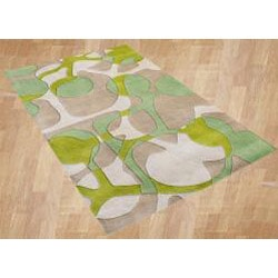 Alliyah Handmade Lime Green New Zealand Blend Wool Rug (5' x 8') - Thumbnail 1