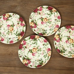 Royal Albert 4-piece Country Rose Chintz Dessert Plates - Thumbnail 1