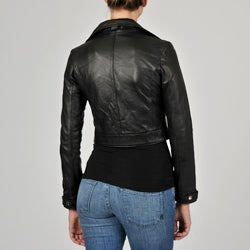 Knoles & Carter Women's Leather Motorcyle Jacket - Thumbnail 1