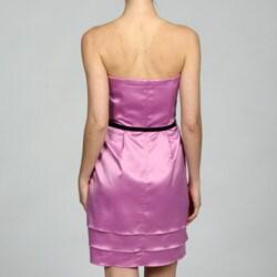 Jessica Simpson Women's Strapless Tiered Dress - Thumbnail 1