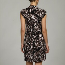 Jessica Simpson Women's V-neck Draped Dress