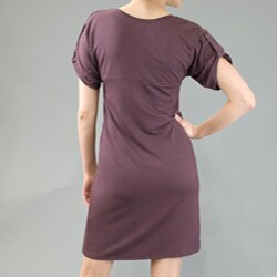 AtoZ Women's Scoop Neck Short Sleeve Dress