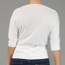 AtoZ Women's Cotton Cowlneck Top