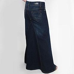 Tabeez Women's Cotton-blend Dark Blue Mermaid Denim Skirt - Thumbnail 1