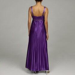 Shop Morgan Amp Co Junior S Purple Babydoll Pleated Dress
