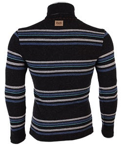 D&G Young Men's Striped Turtleneck Sweater