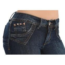 Virtual Sensuality Women's 'Xuxa' Dark Stretch Push Up Jeans