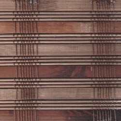 Guinea Deep Bamboo Roman Shade (75 in. x 74 in.)