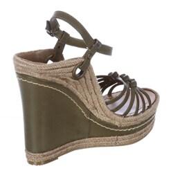 MIA Women's 'Biscotti' Wedge Sandals FINAL SALE - Thumbnail 1
