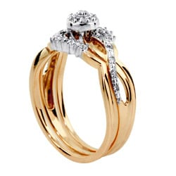 Isabella Collection 10k Gold 1/8ct TDW Diamond Ring Set (G-H, I2-I3)