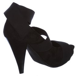 MIA Women's 'Catwalk' Suede Open-toe Heels - Thumbnail 1