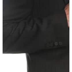 Ferrecci Men's Black Peaked Lapel Tuxedo - Thumbnail 1