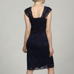Marina Women's Lace Beaded Sequins Dress - Thumbnail 1