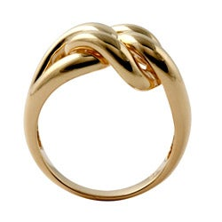 Toscana Collection Gold over Silver Interlocking-Loop Ring