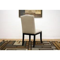 Baudette Beige Modern Dining Chairs (Set of 2) - Thumbnail 1