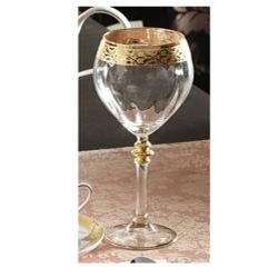 Timeless Italian Goblet Glasses with Gold-plated Trim (Pack of 4)