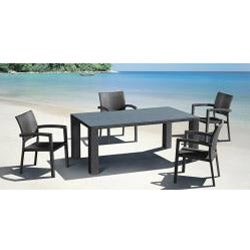 Ashland Outdoor Black Chair (Set of 2) - Thumbnail 1