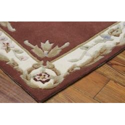 Nourison Hand-tufted French Empire Copper Wool Rug (7'3 x 9'3) - Thumbnail 1