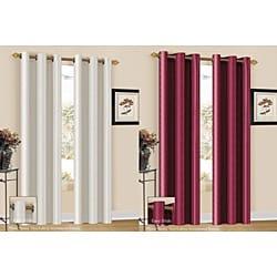 Aubrey Stripe 84-inch Curtain Panel - Thumbnail 1