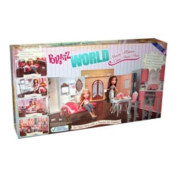Bratz World House Kids' Toy Dollhouse with Interchangeable Rooms - Thumbnail 1