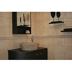 Concrete Full Moon Beige Sink - Thumbnail 1