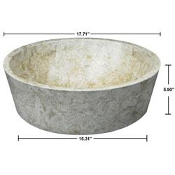 Concrete Full Moon Marble Sink - Thumbnail 1
