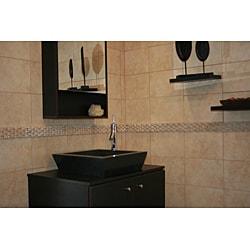 Concrete Square Incline Black Sink
