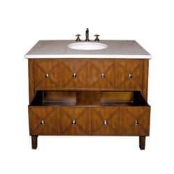 marble top 41 5 inch single sink bathroom vanity free