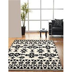 nuLOOM Handmade Moda Tribal New Zealand Wool Rug (7'6 x 9'6) - Thumbnail 1
