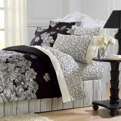 Night Blossom 8-piece Full Size Bed in a Bag - Thumbnail 1