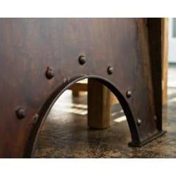 Reclaimed Teak and Metal 5-piece Dining Set (India) - Thumbnail 1