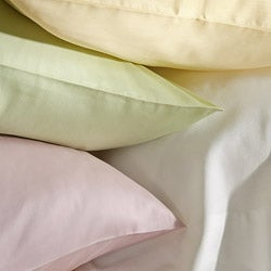 Laura Ashley Solid Cotton 300 Thread Count Queen-size Sheet Set - Thumbnail 1