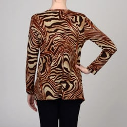 Simply Irresistible Women's Animal-print Open-front Cardigan