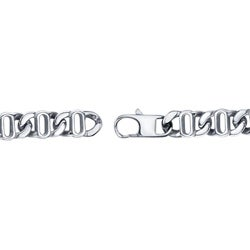 Stainless Steel 24-inch Fancy Link Necklace
