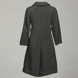 Rothschild Girl's Wool-blend Dress Coat and Hat Set - Thumbnail 1