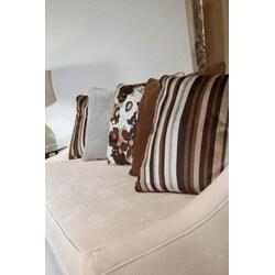 Retro Modern Fabric Sofa - Thumbnail 1