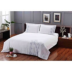 Coventry Stroll Embroidered 3-piece Duvet Cover Set - Thumbnail 1