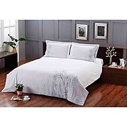 Coventry Stroll Embroidered King-size 3-piece Duvet Cover Set - Thumbnail 1