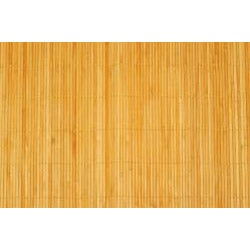 Asian Hand-woven Thin Natural Stripe Bamboo Rug (1'8 x 2'7)