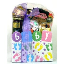 Gift Techs Welcome Baby Baby Footprints Themed Gift Box