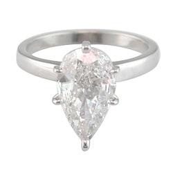 14k White Gold 2 3/4ct TDW Certified Clarity-enhanced Diamond Solitaire Engagement Ring (I, VS2) - Thumbnail 1