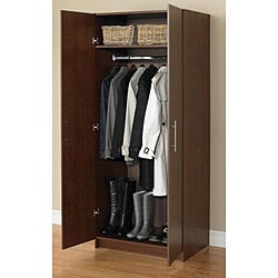Akadahome Multipurpose 72-inch Walnut Storage Cabinet