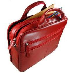 Castello Romano Red Leather Briefcase