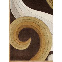 Alliyah Handmade Chocolate New Zealand Blend Wool Rug (5' x 8') - Thumbnail 1