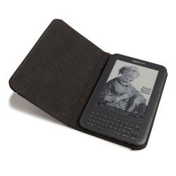 Leather Cover for Third Generation Kindle Keyboard (6-inch) (Refurbished) - Thumbnail 1