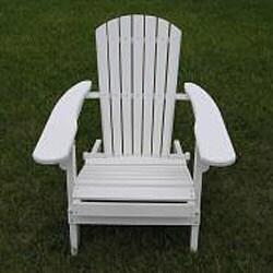 Deluxe White Adirondack Folding Chair - Thumbnail 1