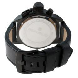 Republic Men's Leather Strap White/ Black Watch - Thumbnail 1