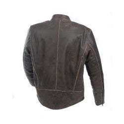 Mossi Men's 'Nomad' Premium Leather Jacket - Thumbnail 1