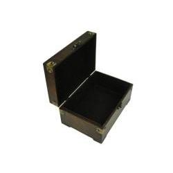 Travel Jewelry & Keepsake Box in Aged Mahogany Rectangle Chest (Set of 2)