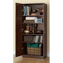 Akadahome Multipurpose Walnut 72-inch Storage Cabinet